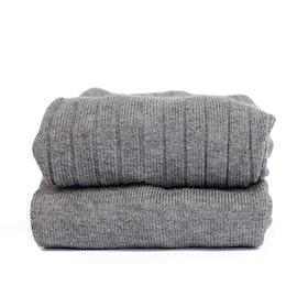 CÓNDOR - Wide Rib Basic Tights Light Grey