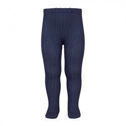 CÓNDOR - Wide Rib Basic Tights Navy Blue