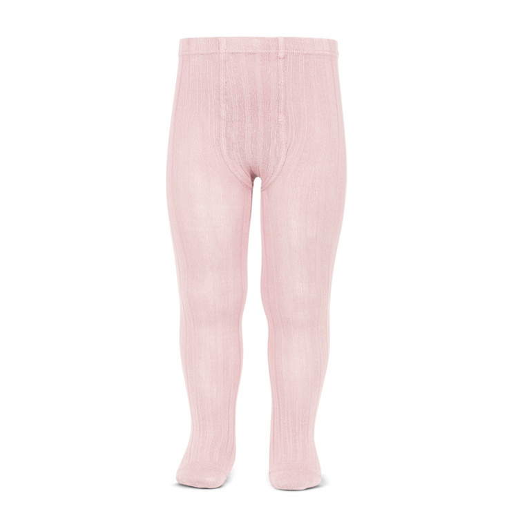 CÓNDOR - Wide Rib Basic Tights Pink