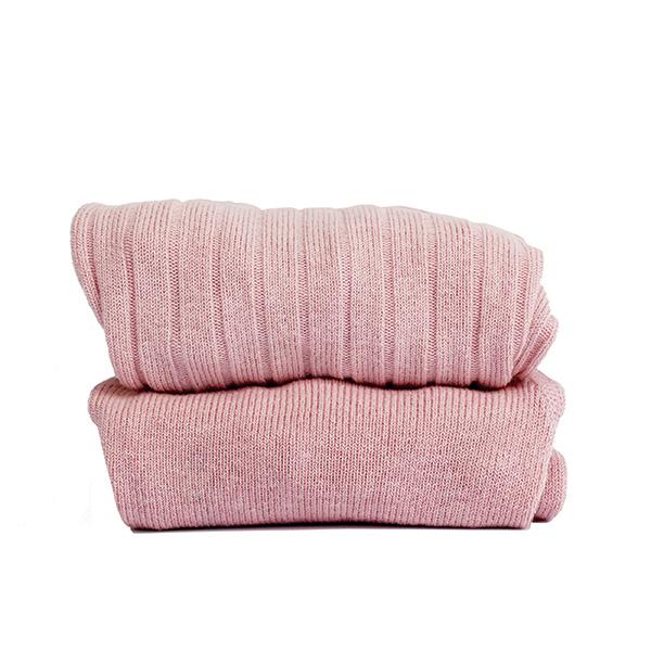 CÓNDOR - Wide Rib Basic Tights Pale Pink