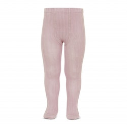 CÓNDOR - Wide Rib Basic Tights Pale Pink