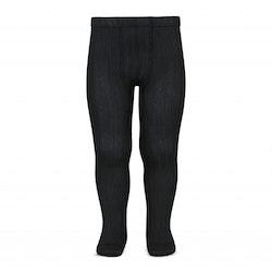 CÓNDOR - Wide Rib Basic Tights Black