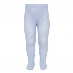 CÓNDOR - Wide Rib Basic Tights Light Blue