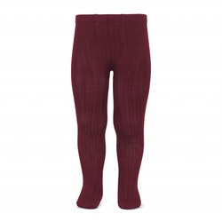 CÓNDOR - Wide Rib Basic Tights Burgundy