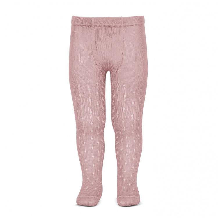 CÓNDOR - Perle Side Openwork tights Pale Pink