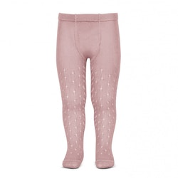 CÓNDOR - Perle Side Openwork tights Pale Pink
