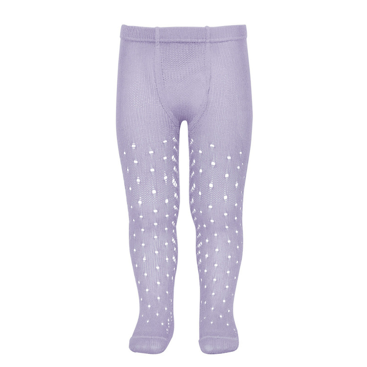 CÓNDOR - Perle Side Openwork tights Mauve