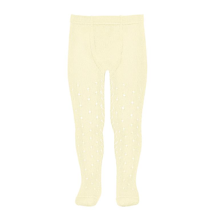 CÓNDOR - Perle Side Openwork tights Butter