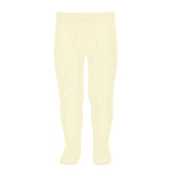 CÓNDOR - Perle Side Openwork tights Butter