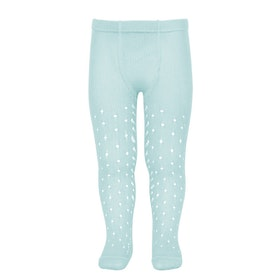 CÓNDOR - Perle Side Openwork tights Aquamarine