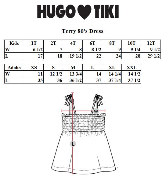 Hugo Loves Tiki - Terry 80's Dress Brown Canguro
