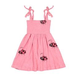 Hugo Loves Tiki - Terry 80's Dress Pink Ladybug