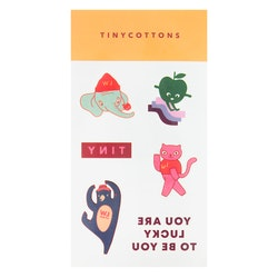 Tinycottons - LUCKYWOOD Tattoos multicolor