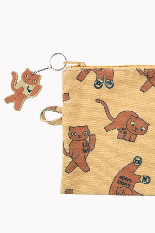 Tinycottons - Cats Pouch sand/brown
