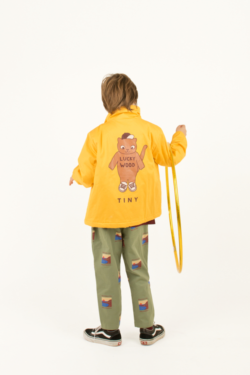 Tinycottons - CATS jacket yellow/brown