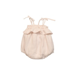 The New Society Claire Baby Romper Soft Woven Blush
