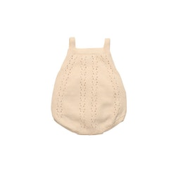 The New Society Alice Baby Knit Romper  Natural