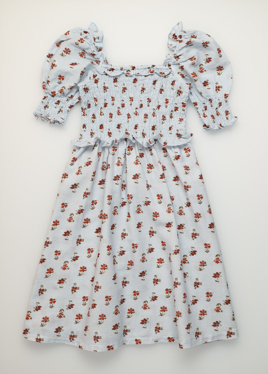 The New Society Jane Dress Soft Woven Daisy Flower