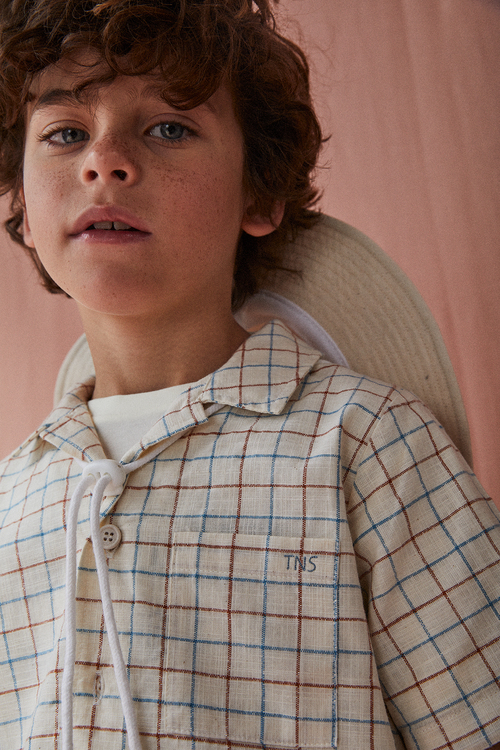 The New Society Dylan Shirt Soft Woven Window Check