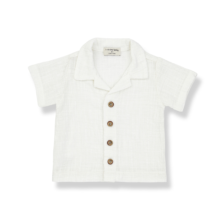 1+in the family DAVID S-Sleeve T-shirt Off-white