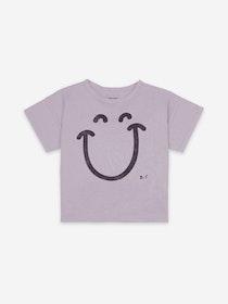 BoBo Choses Big Smile Lilas Short Sleeve T-shirt