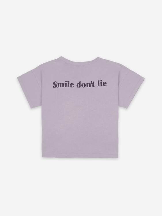 BoBo Choses Big Smile Lilas Short Sleeve T-shirt