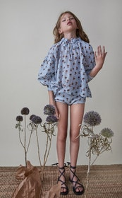 The New Society Olivia Blouse Soft Woven Daisy Flower
