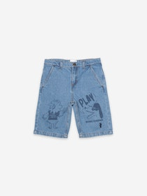 Bobo Choses Bird & Dog Play Denim Bermuda
