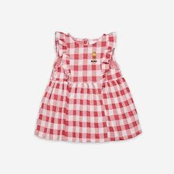 Bobo Choses Vichy All Over Jersey Ruffle Dress