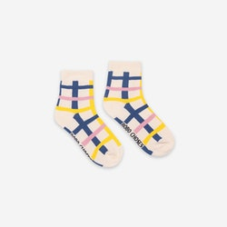 Bobo Choses Blue Checkered Short Socks