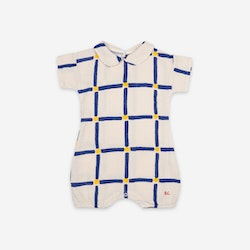 Bobo Choses Cube All Over Woven Playsuit