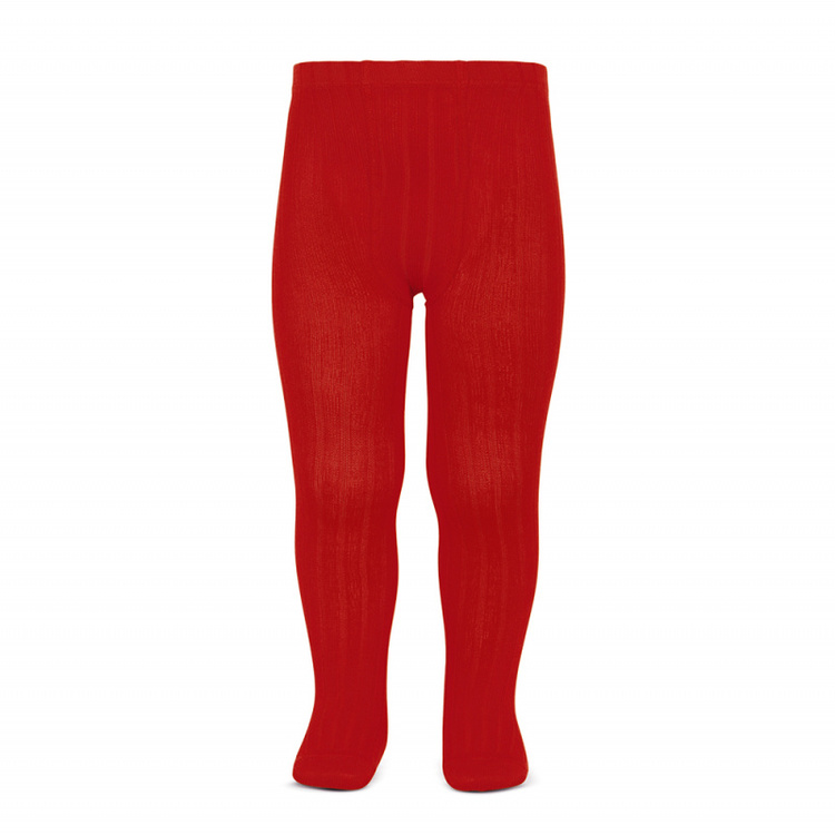 CÓNDOR - Wide Rib Basic Tights Ruby