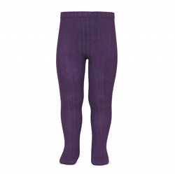 CÓNDOR - Wide Rib Basic Tights Eggplant