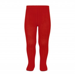 CÓNDOR - Wide Rib Basic Tights Red