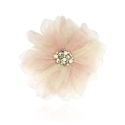 Dolly By Le Petit Tom Dolly Golightly Big Hair Rosette-Broach Ballet Pink