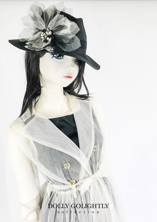 Dolly By Le Petit Tom Dolly Golightly Fedora Hat Black