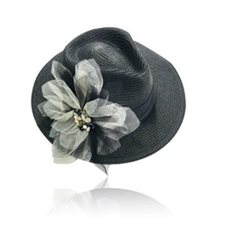 Dolly By Le Petit Tom Dolly Golightly Fedora Hat Black