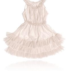 Dolly By Le Petit Tom Ruffled Chiffon Dance Dress Klänning Off-White