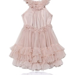 Dolly By Le Petit Tom Ruffled Chiffon Dance Dress Klänning Pink