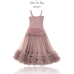 Dolly By Le Petit Tom Frilly Top Linne Mauve