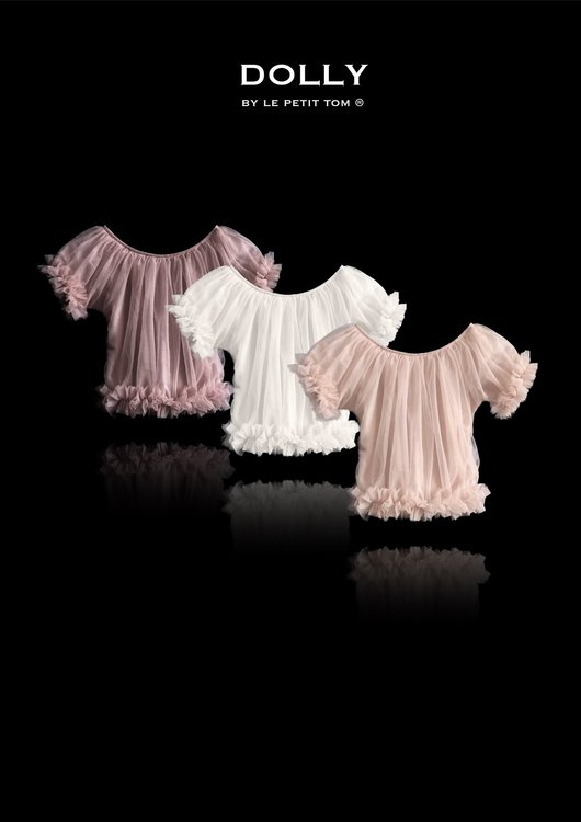Dolly By Le Petit Tom Frilly Princess Top Topp Ballet Pink