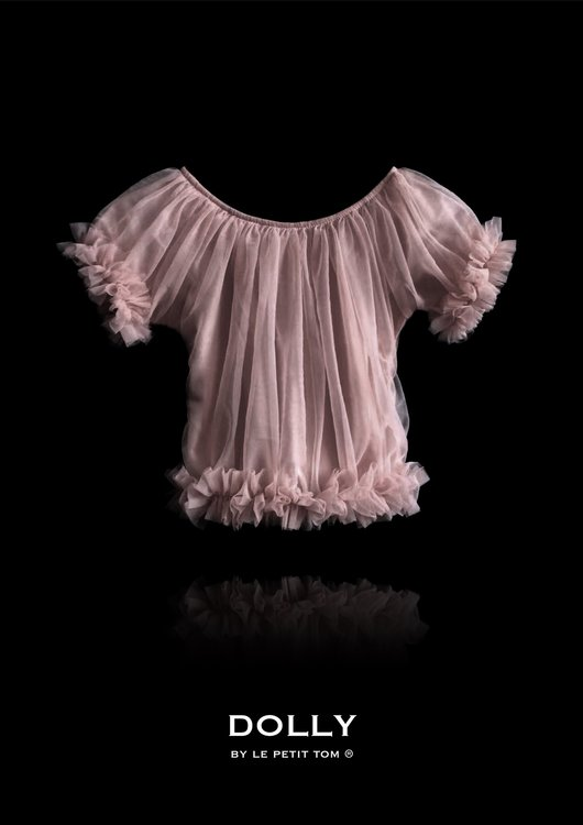 Dolly By Le Petit Tom Frilly Princess Top Topp Mauve
