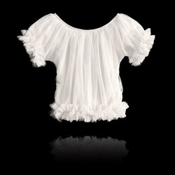 Dolly By Le Petit Tom Frilly Princess Top Topp Off-White