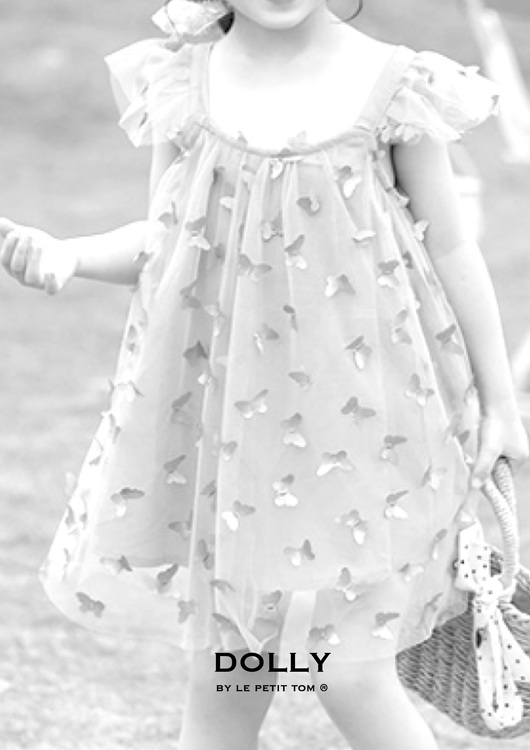Dolly By Le Petit Tom Allover Butterflies Tutu Dress Klänning White