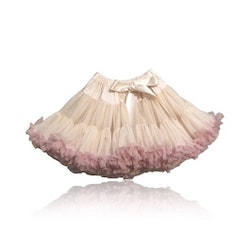 Dolly By Le Petit Tom Brigitte Bardot Pettiskirt Kjol Cream Dusty Pink