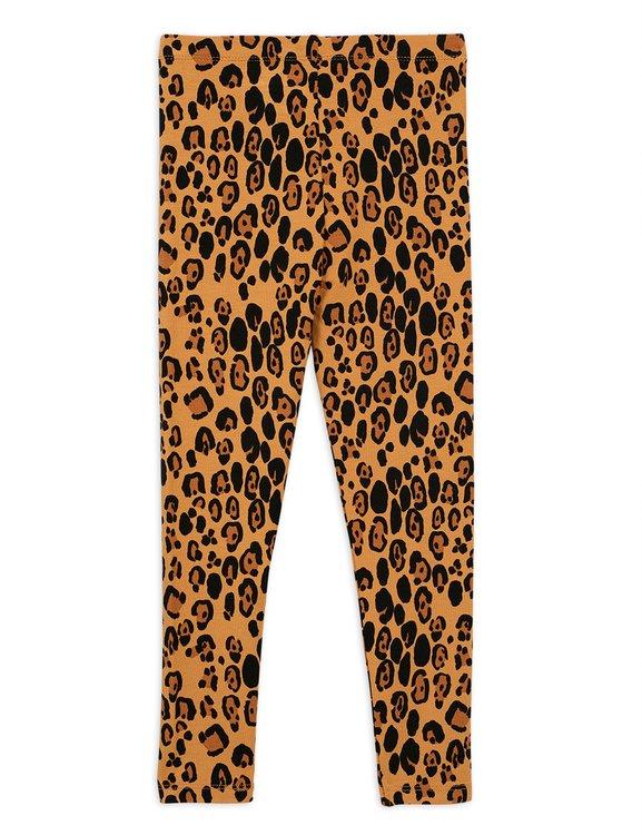 Mini Rodini Basic Leopard Leggings Beige
