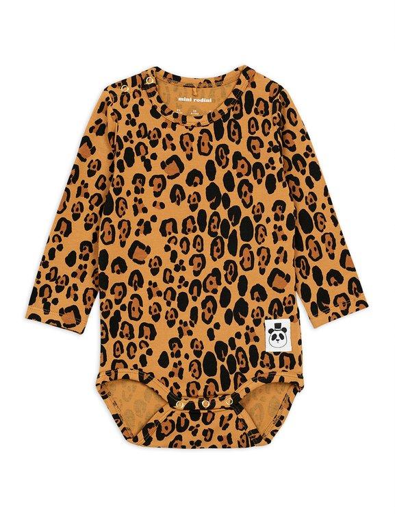 Mini Rodini Basic Leopard Långärmad Body Beige