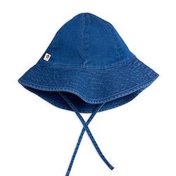 Mini Rodini Strawberry Denim Solhatt Blue