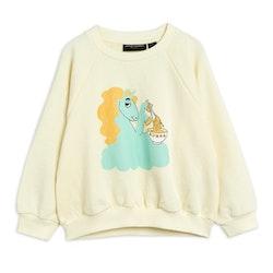 Mini Rodini Unicorn Noodles Sweatshirt Offwhite
