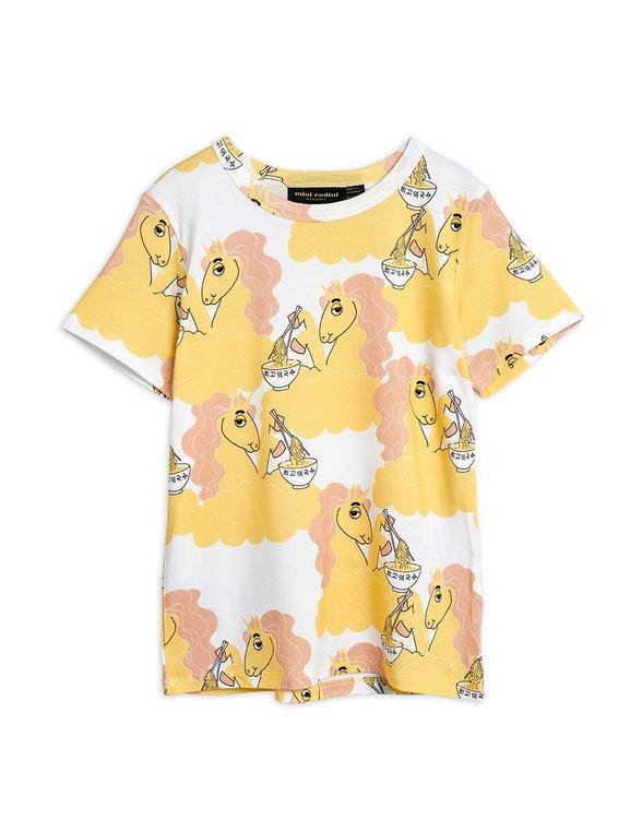 Mini Rodini Unicorn Noodles AOP SS T-shirt Yellow